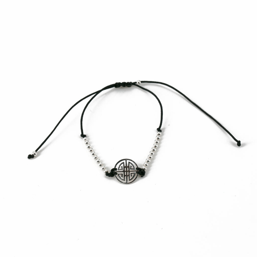 Maya Double Happiness Silver Plaited Bracelet | Stones that Rock