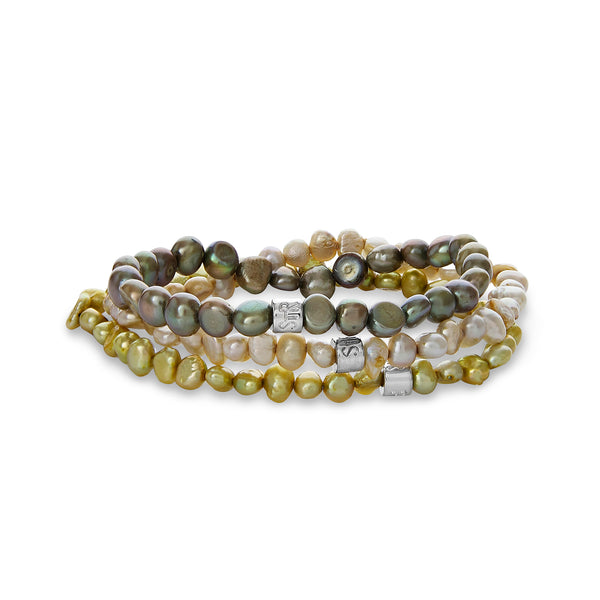 Tilly Trio Pearl Bracelet Set | Stones that Rock