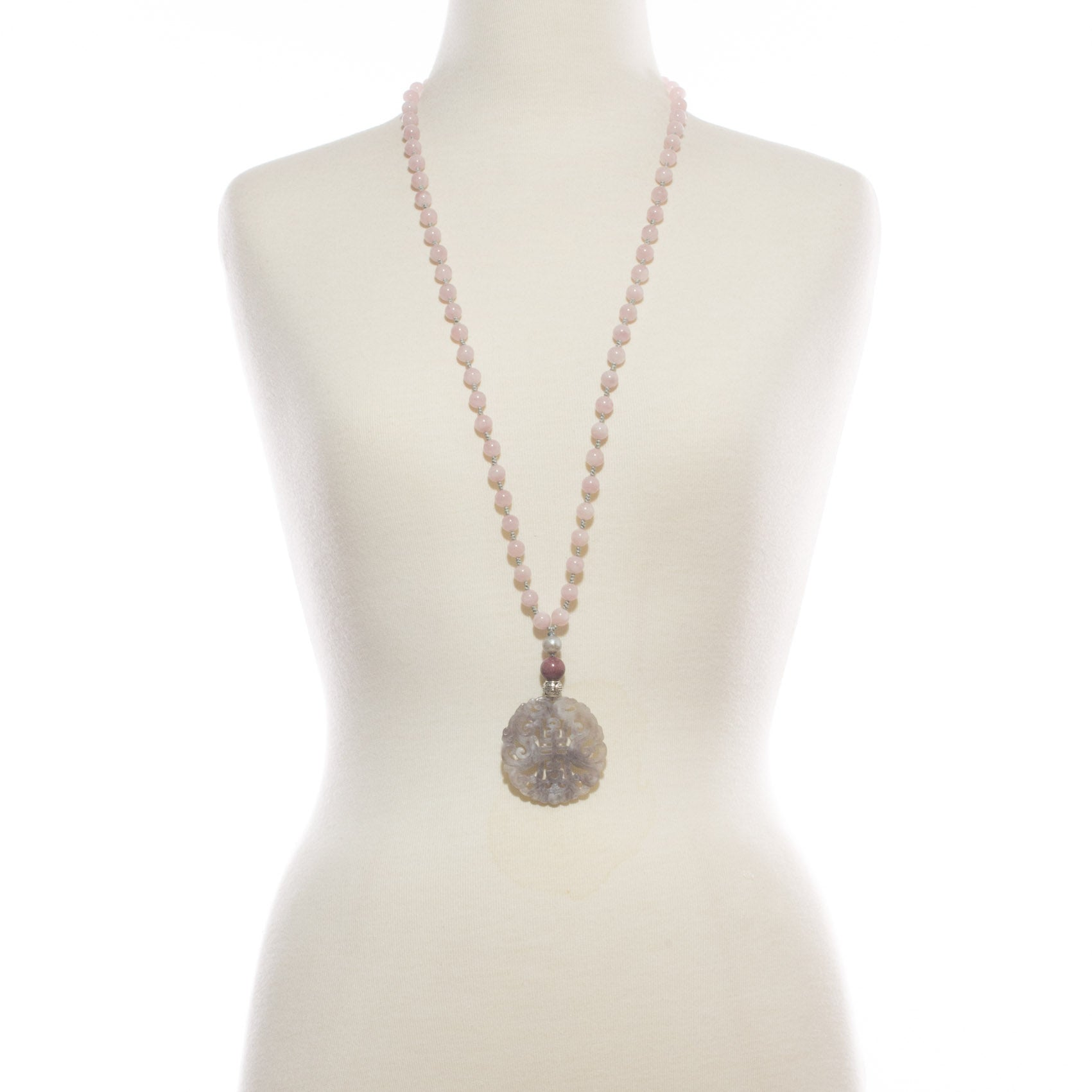 Most Happy Jade Pink Stone Long Necklace | Stones that Rock