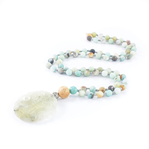 Most Happy Jade Sea Green Stone Long Necklace | Stones that Rock
