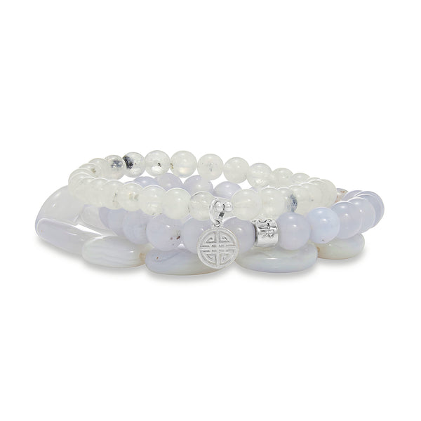 Luna Moonstone Stones Bracelet Set | Stones that Rock