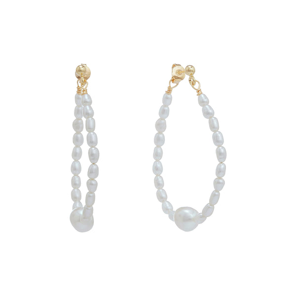 Polly Rice Pearl Teardrop Earrings | Stones That Rock