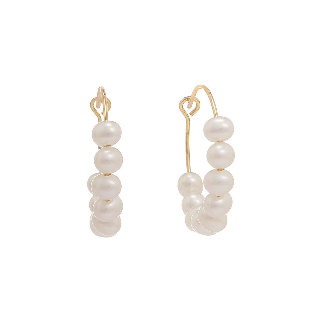 Polly Pearl Round Earrings | Stones That Rock