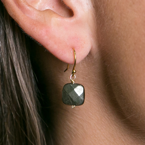 Pyrite Hook Drop Earrings | Stones that Rock