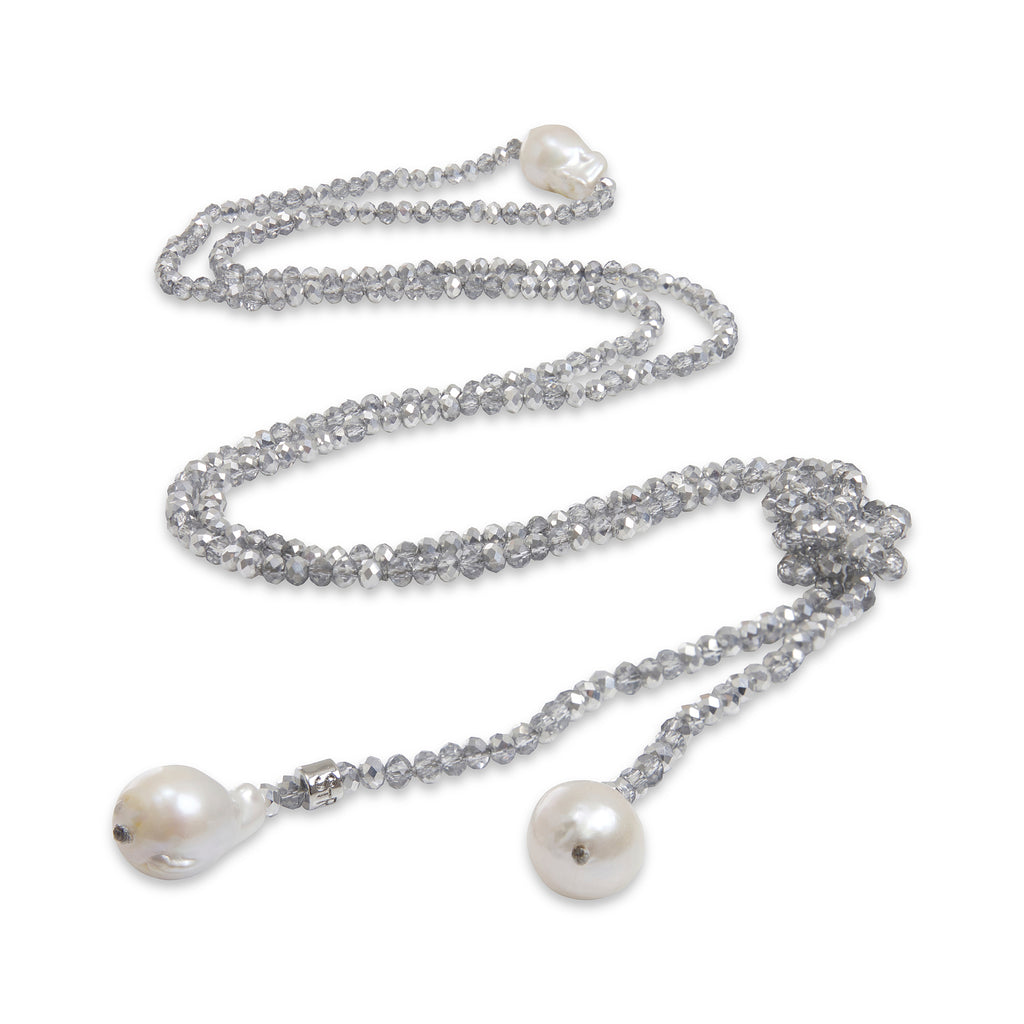 Marni Baroque Pearl & Crystal Lariat | Stones that Rock
