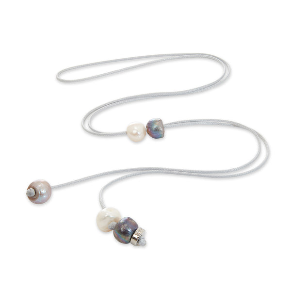 Cee Cee Grey Long Pearl Necklace | Stones that Rock