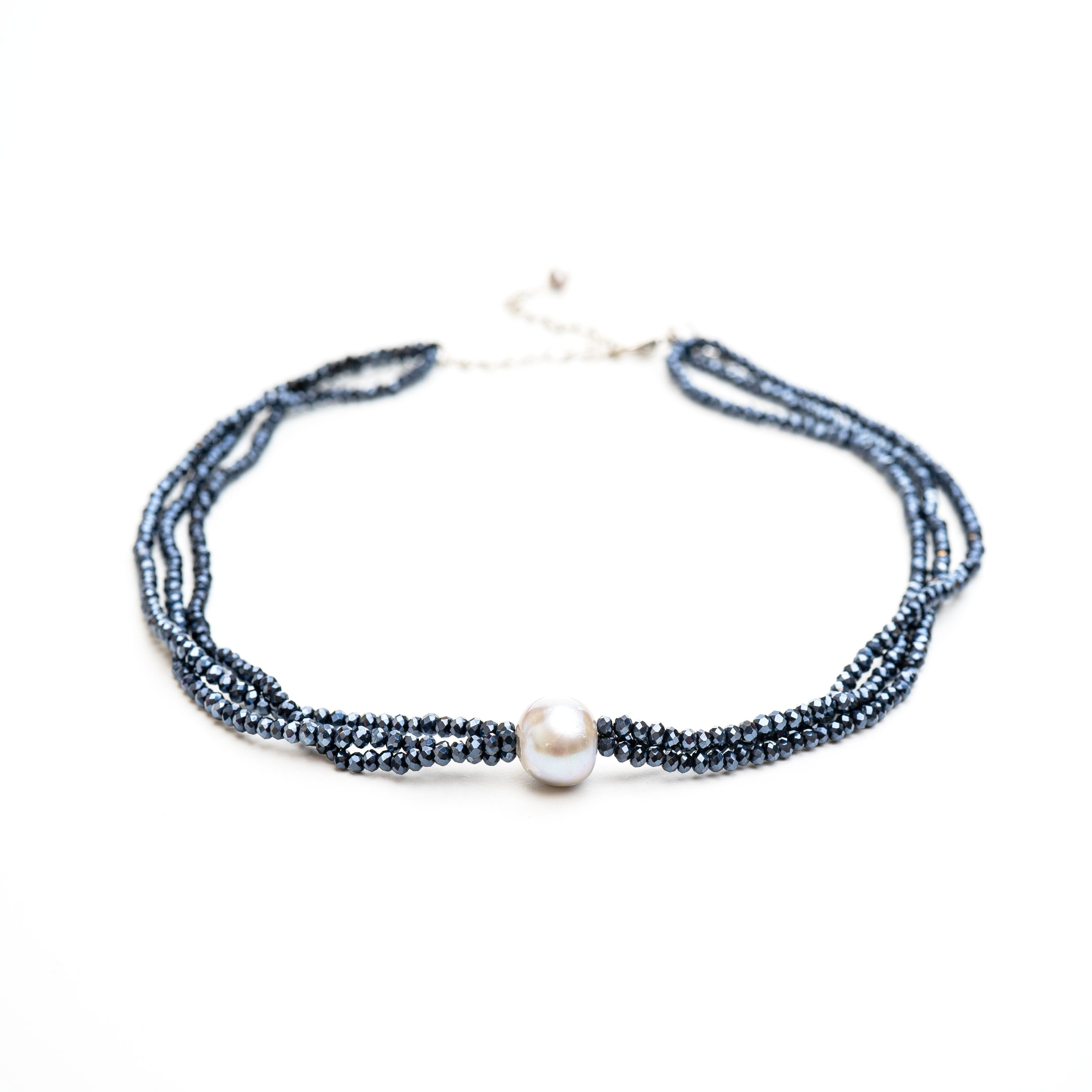 Lily Crystal & Pearl Choker | Stones that Rock
