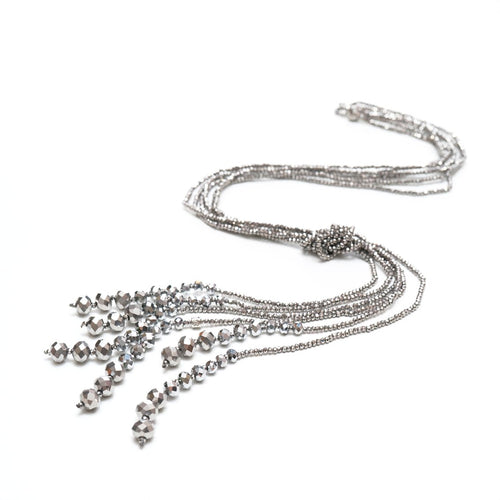 Misteria Multi Strand Crystal Lariat | Stones that Rock