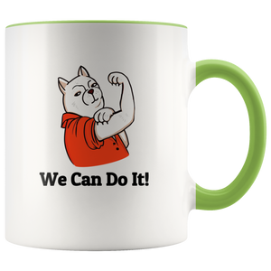 Humorous gift for strong girl who loves cats / Accent Mug