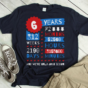 6 Years Wedding Anniversary Gift Idea USA flag themed, iron anniversary gifts