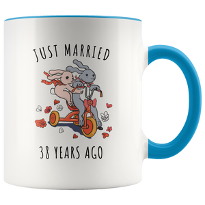 sc 1 st  Familymily & Just Married 38 Years Ago - 38th Wedding Anniversary Gift Accent Mug