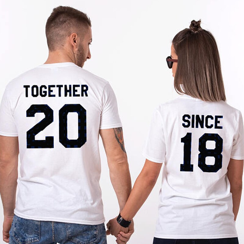 Together Since 2018 Gift T-Shirts for Couple