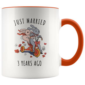 Just Married 3 Years Ago - 3rd Wedding Anniversary Gift Accent Mug
