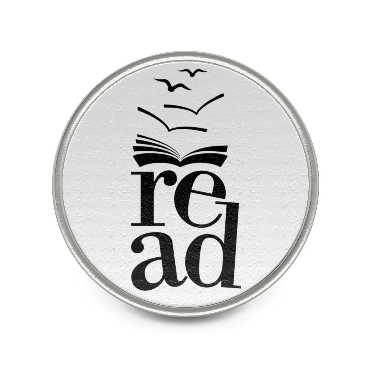Gift for book lover who loves enamel pins Metal Pin