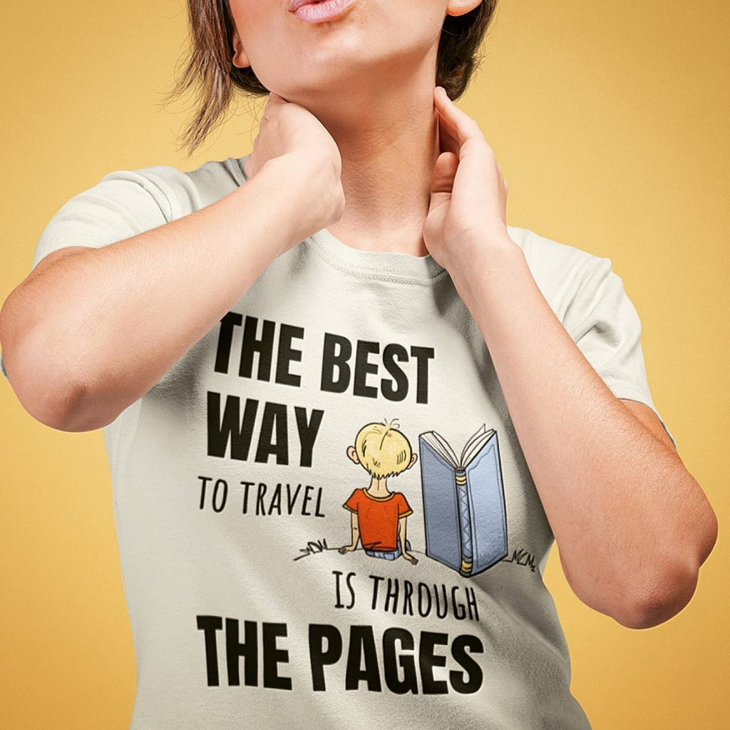 The best way to travel is through the pages biblio book lover gift idea