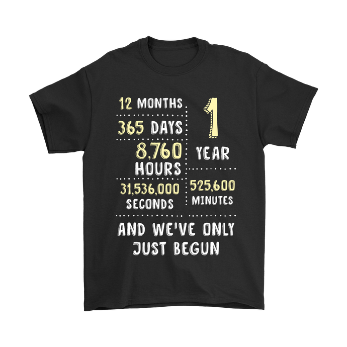 1st Wedding Anniversary T-Shirt Classic Vintage Gift for Her or Him / 1 Year