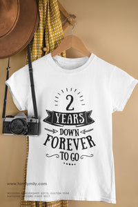 2nd wedding anniversary t-shirt with a photo gift idea married in 2018