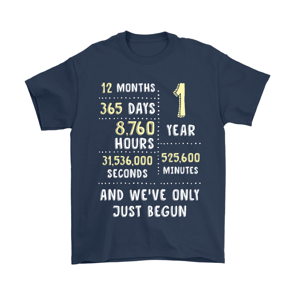 1st Wedding Anniversary T-Shirt Classic Vintage Gift For