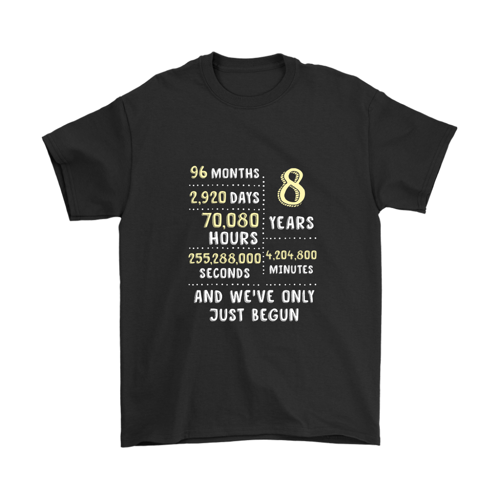 8th Bronze Wedding Anniversary Gift Eight Years Of Marriage Mens T Shirt Black - Gift Ideas - Familymily.com