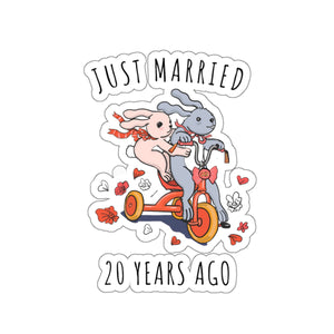 If we married 20 years ago what to gift to wife? Kiss-Cut Stickers!