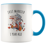 Just Married 1 Year Ago - 1st Anniversary Gift Mug
