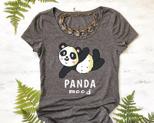 Panda Lover Gift Tee Shirt for girls Panda Mood womens tshirt
