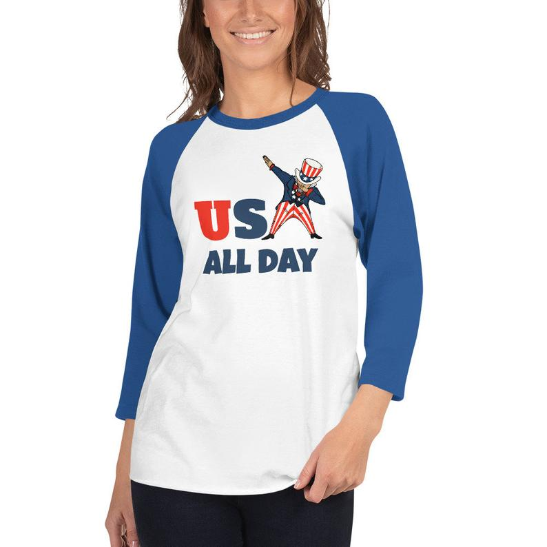 USA all day funny dab dancing Uncle Sam graphic / PNG hi-resolution tshirt design
