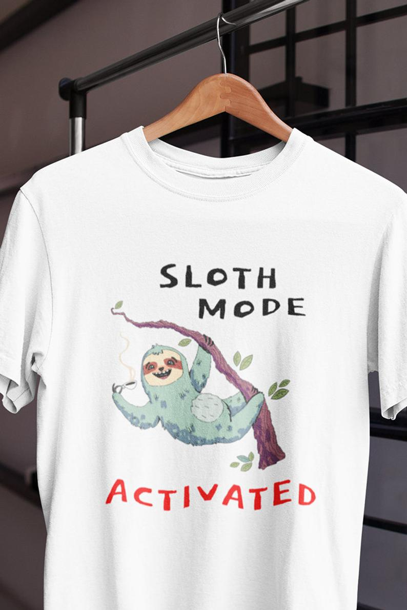 Sloth Mode Activated Sleeping Pajama Tee Shirt