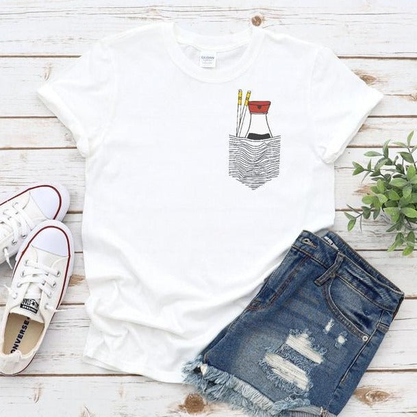 Sushi Lover Shirt, Pair Of Chopsticks & Bottle Of Soy Tee