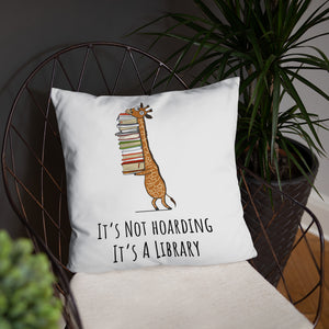 It's Not Hoarding It's A Library Pillow