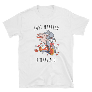 Just Married 8 Years Ago - 8th Wedding Anniversary Couple Gift Shirt