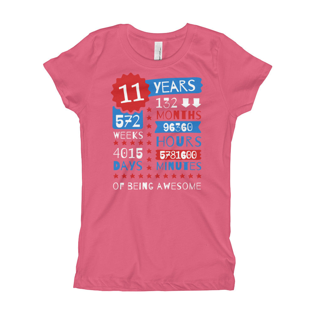 11 Years Of Being Awesome / Born in 2008 / 11th Birthday T-Shirt