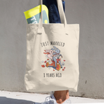 Just Married 8 Years Ago - 8th Wedding Anniversary Tote Bag