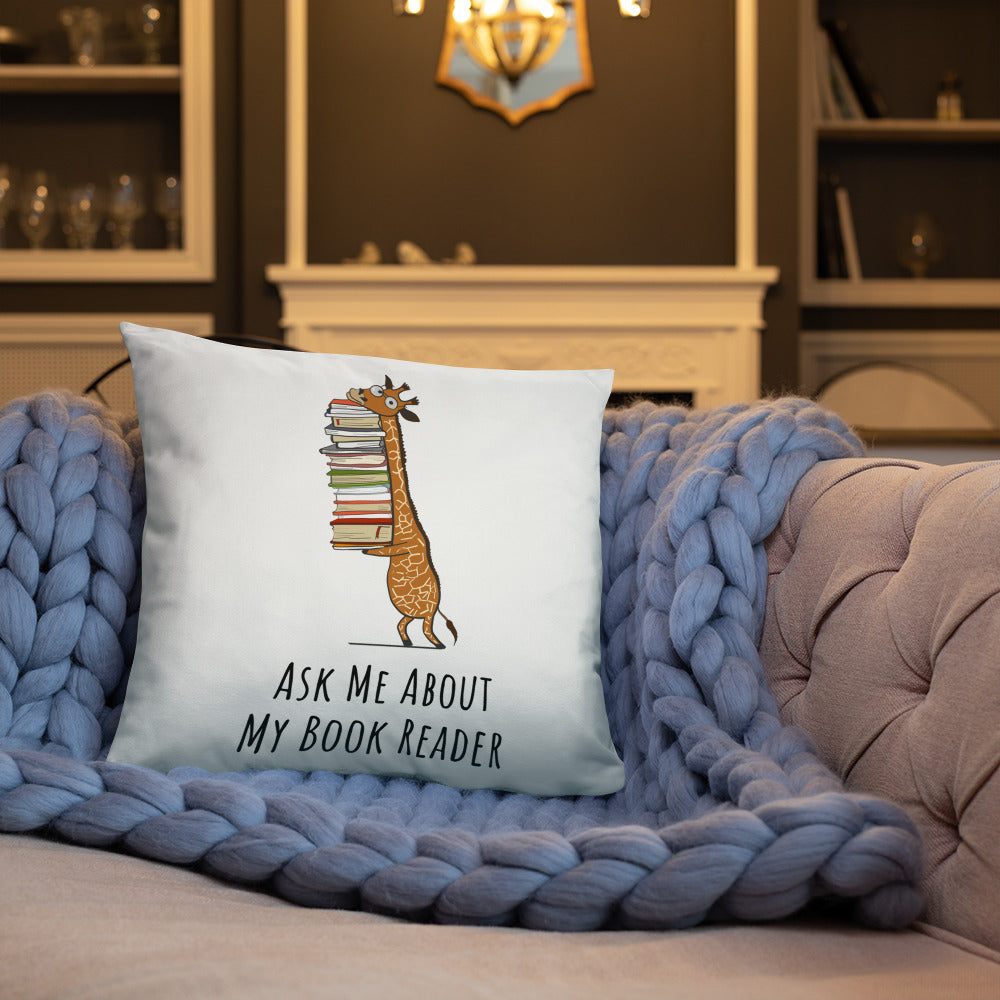 Ask Me About My Book Reader- Gift Pillow - Gift Ideas - Familymily.com