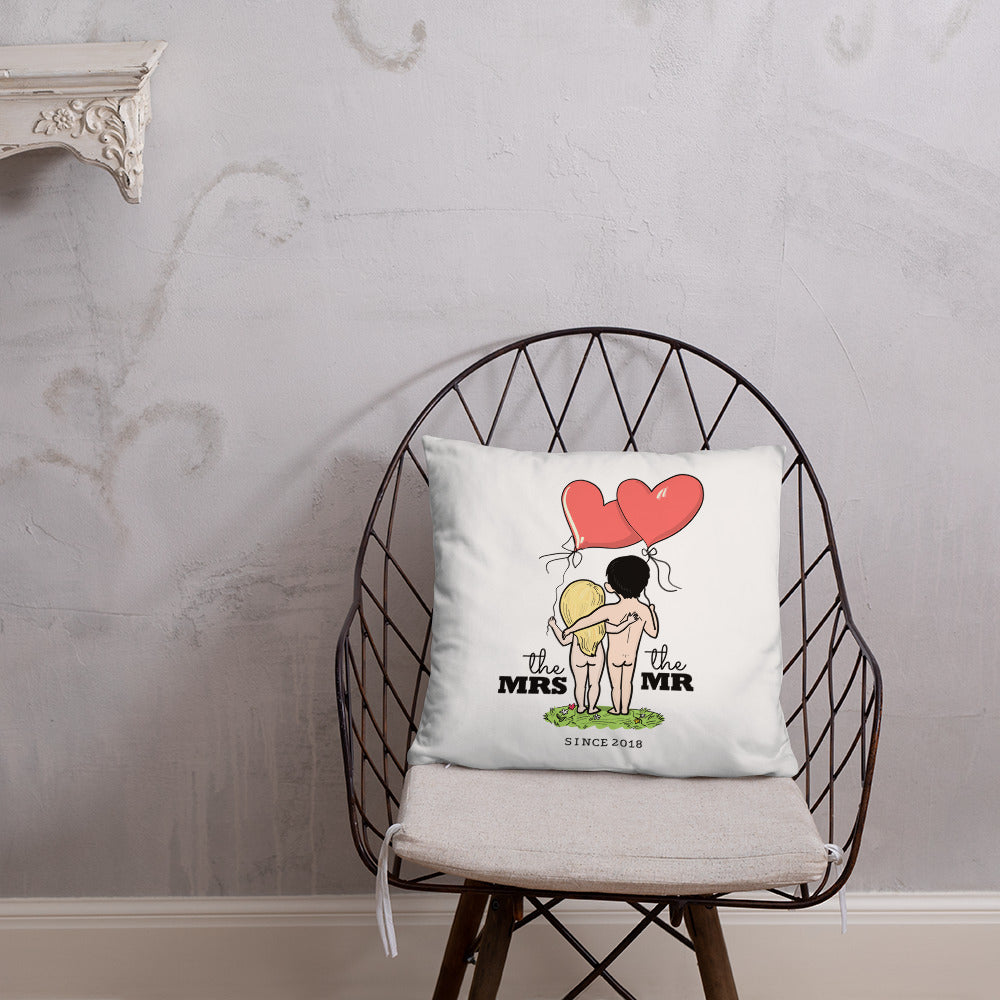 Mr and Mrs Since 2018 - Wedding Anniversary Gift Pillow