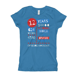 12 Years Of Being Awesome - Being Awesome Shirt - Born in 2007 - 12th Birthday Gift Ideas For Kids