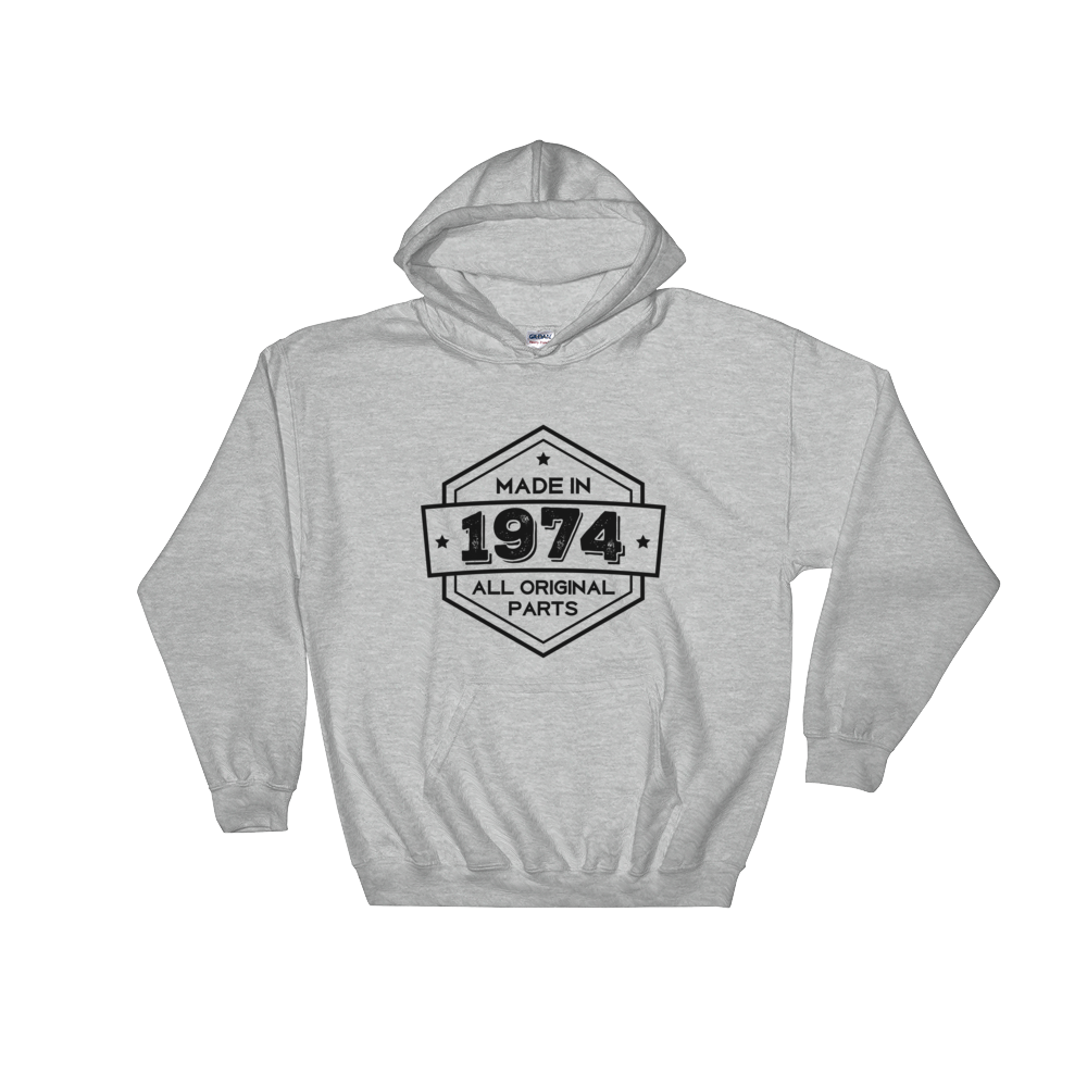 Made in 1974 - 44th Birthday Gift  Unisex Hooded Sweatshirt