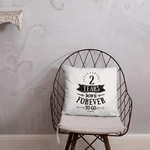 2 Years Down Forever To Go Couple Throw Pillow - 2nd Cotton Wedding Anniversary