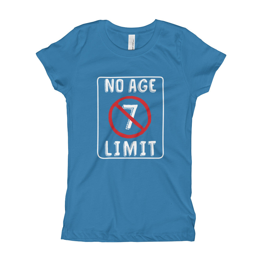 No Age Limit - 7th Birthday Shirt For Girls