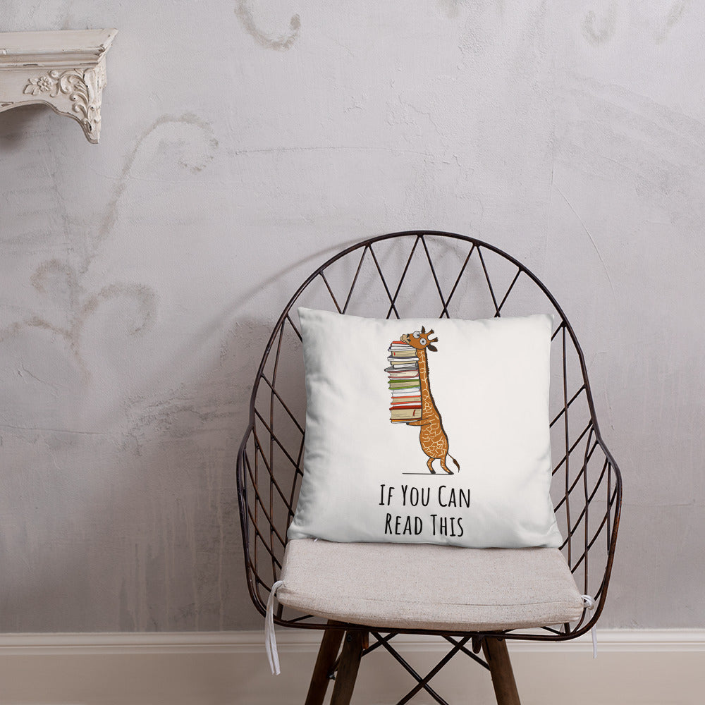 If You Can Read This - Biblioklept Gift Pillow