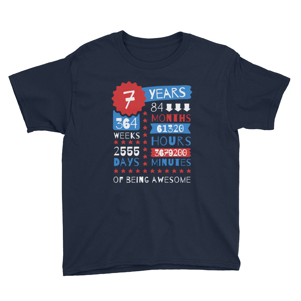 7 Years Of Being Awesome - Being Awesome Gift - 7th Birthday Gift Boy Selections For Kids - Gift Ideas - Familymily.com