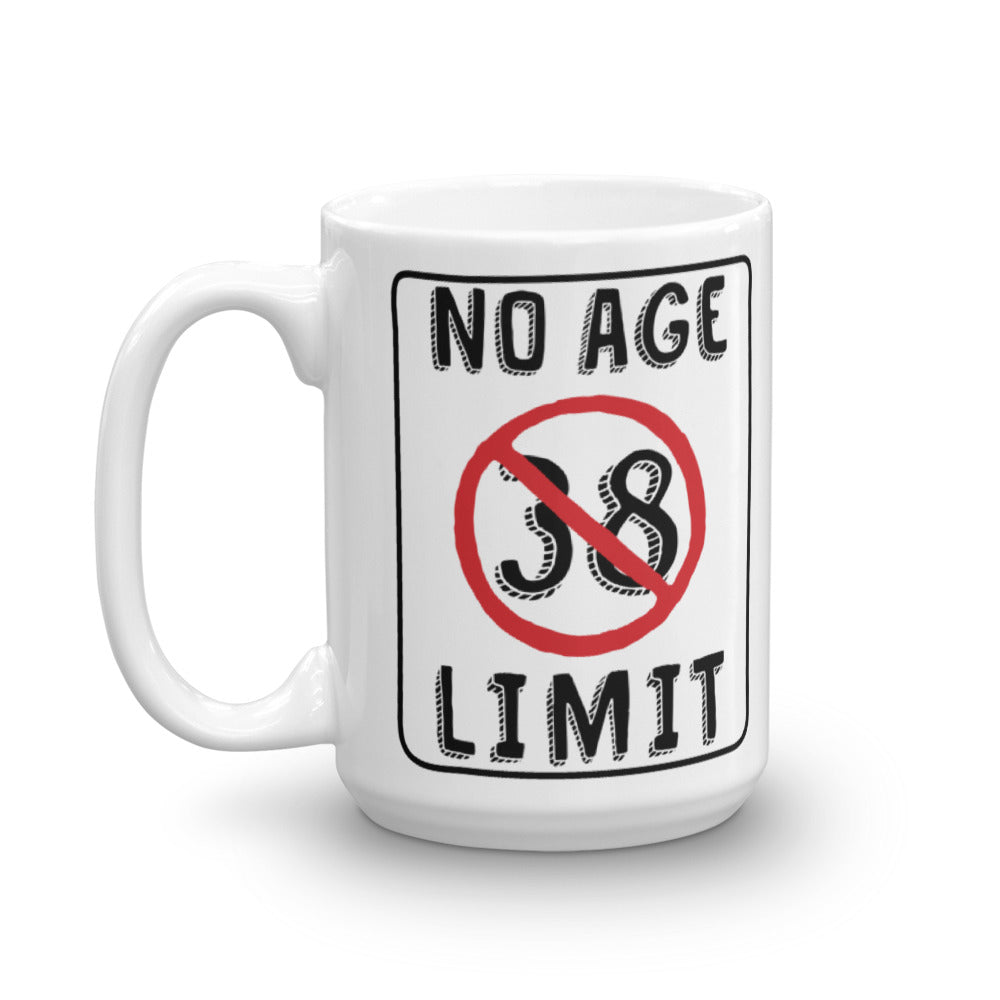 No Age Limit - 38th Birthday Gift Mug