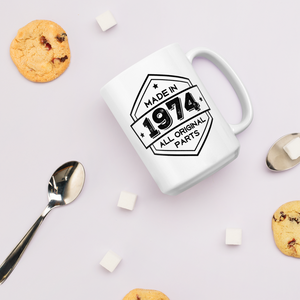Made in 1974 - 44th Birthday Gift Mug