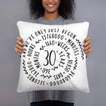 Marriage anniversary gift - Custom Year Pillow