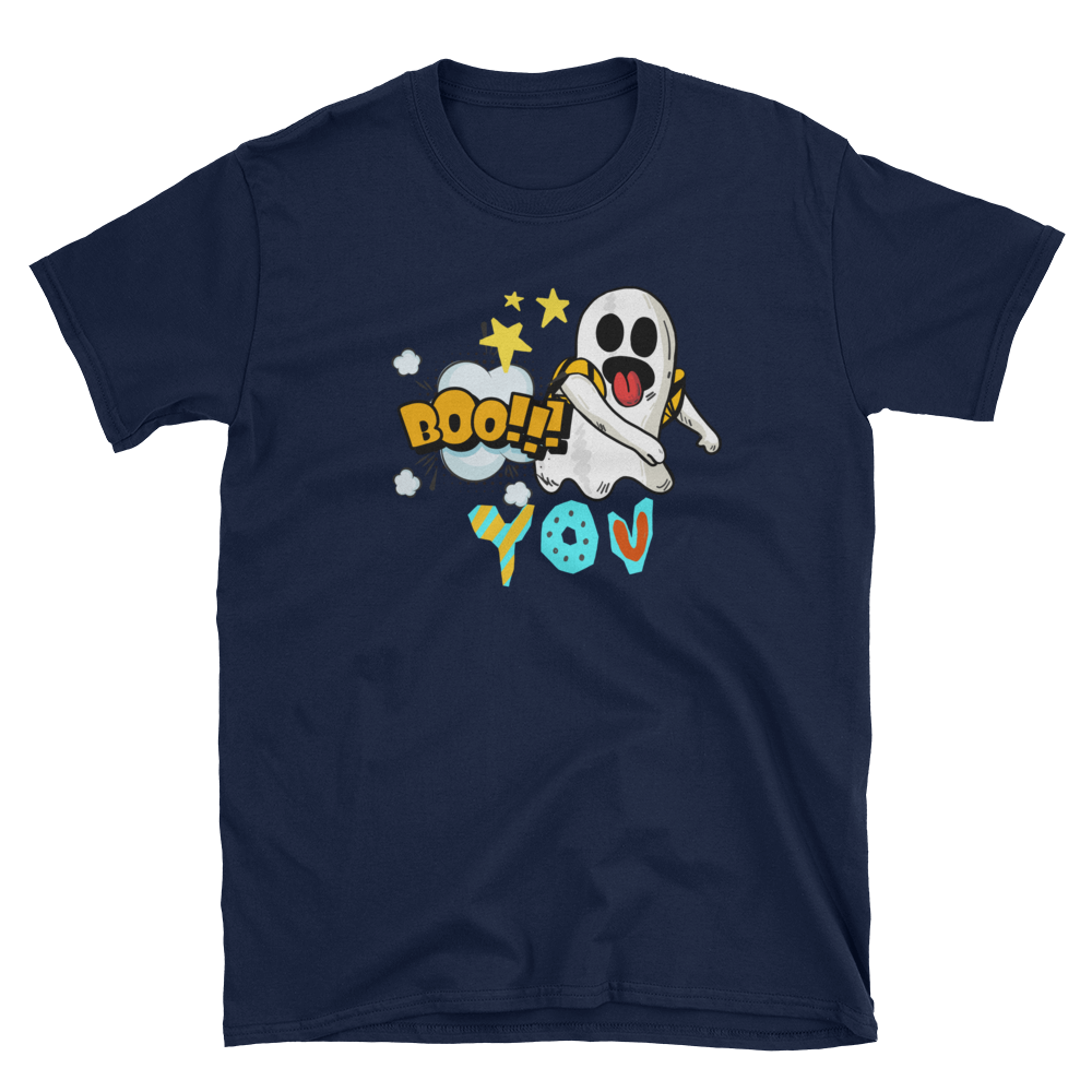 Boo! You - Bootiful Floss Dance Ghost Halloween Themed Short-Sleeve Unisex T-Shirt - Gift Ideas - Familymily.com