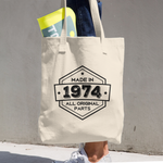 Made in 1974 - 44th Birthday Tote Bag Gift