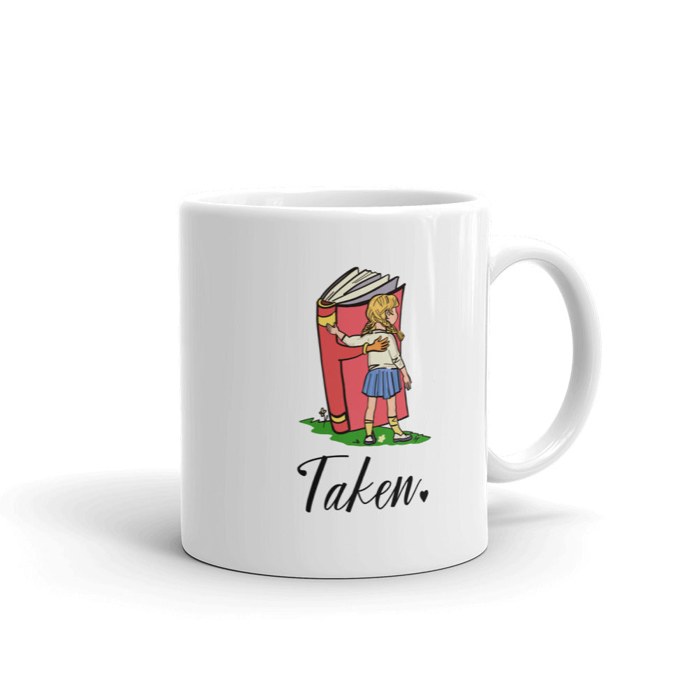 Taken / Book Lover Gift / Bookworm Gift Idea / Girl with a Book / Mug for Her