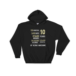 10 Years Of Being Awesome Hooded Sweatshirt - Gifts For 10th Tin Wedding Anniversary - Gift Ideas - Familymily.com