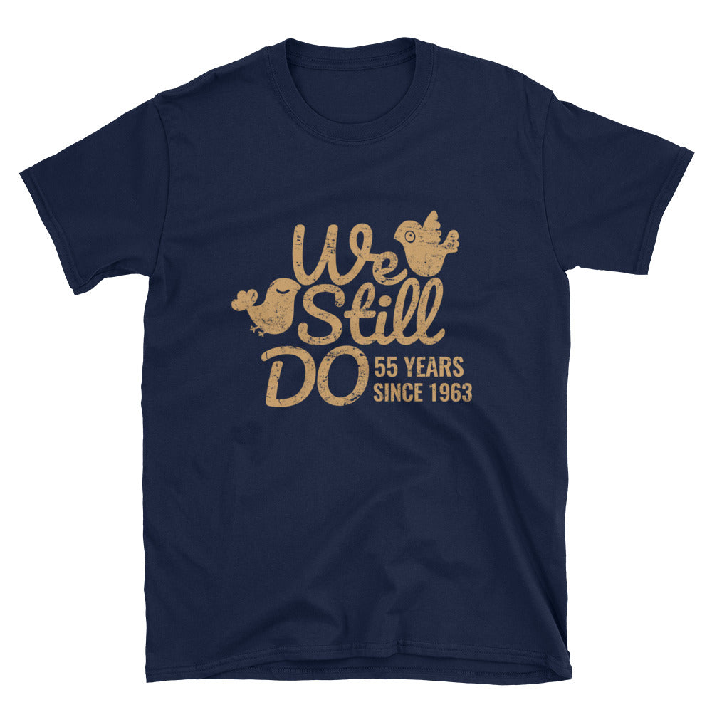 We Still Do 55 Years - A Charming Emerald 55th Wedding Anniversary Lovebirds Couple Gift Shirt