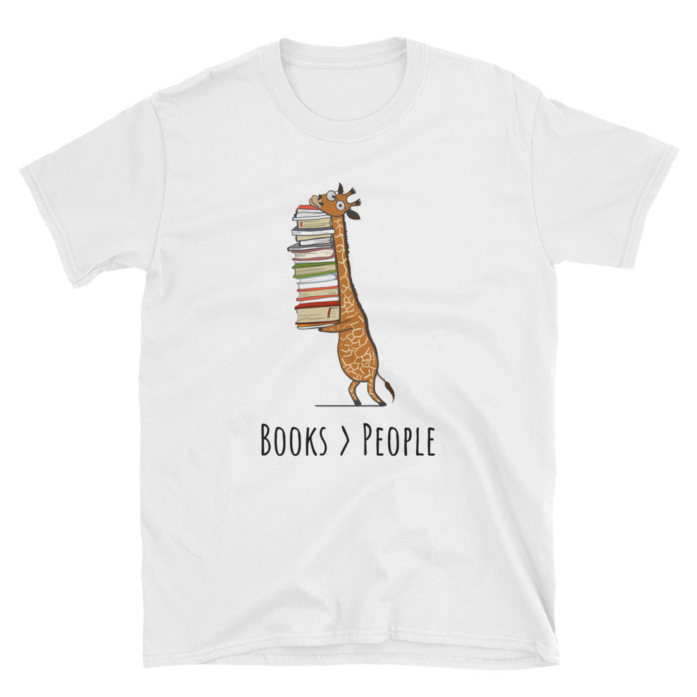 Books Are Greater Than People Short-Sleeve Unisex T-Shirt - Gift Ideas - Familymily.com